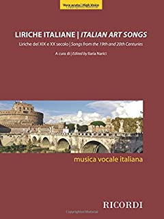 Italian Art Songs: 48 Songs from the 19th and 20th Centuries - High Voice