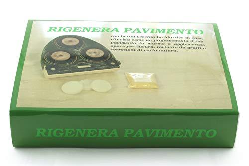RIGENERA PAVIMENTO con lucidatrice domestica per lucidare marmi e graniglie