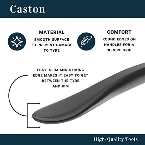 Caston - Bike Tyre Levers For Bicycles - Tire Tool - Premium Black Carbon Steel Levers Repair Bike 3 Pack