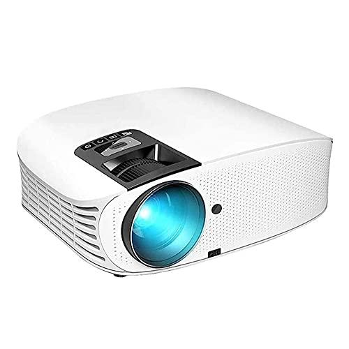SMSOM Mini proyector, proyector de Video portátil, Full HD 1080P Compatible, Compatible con TVDVD, HDMI, VGA, TF, AV y USB con conexión de Pantalla telefónica