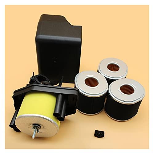 Ensamblaje de la cubierta de la carcasa del filtro de aire W / 3 Kit de filtros de repuesto para H-ONDA GX390 GX340 GX 390 340 Chino 188F 190F For Motor 5kw generador Reemplazo desgastado