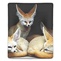 マウスパッド ノートパソコン オフィス用 ゲーム用 Fenech Animalsフォックスあくびファミリー耳 (180*220*3mm)防塵 耐久性 滑り止め 耐用