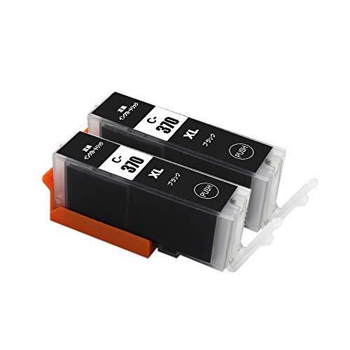 J-ECO製 BCI-370XLBK ブラック お得な2本セット 大容量 ISO14001、ISO9001、CE、SGS認証工場 キヤノン用 互換インクカートリッジ 残量表示 (BCI-370 BCI-371 BCI-370XL BCI-371XL BCI-370XLBK BCI-371XLBK)