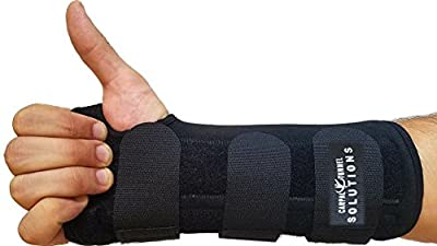 Carpal Tunnel Night Time Wrist Brace for Right Hand by Carpal Tunnel Solutions- Relief for RSI, Cubital Tunnel, Tendonitis, Arthritis, Wrist Sprains, Support Recovery + Feel Better Now(Right Hand)