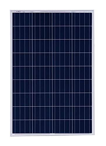 Panel Solar de Alta eficiencia policristalino de 100 W para Cargar baterías de 12 V en caravanas, autocaravanas, Casas rodantes, Barcos y soluciones de alimentación Offgrid
