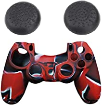 Silicone controller Skin Cover Case & thumb grip cap for SONY Playstation 4 PS4 - 2724294227353
