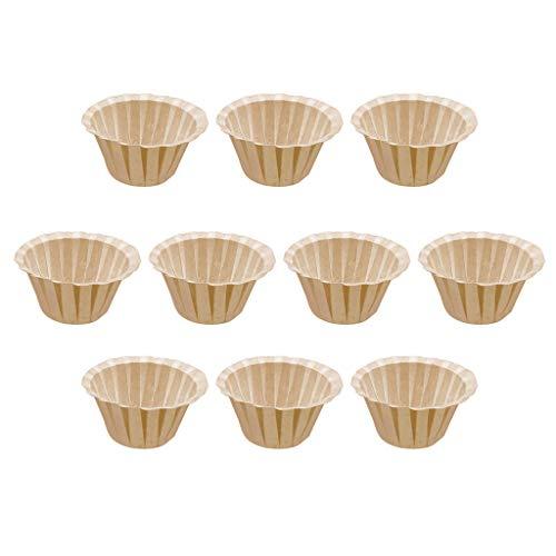 DOLDOA Haushalt Wohnen,Kaffeefilter-Papierschale Wegwerfpapierschale Kcup Nahrungsmittelgrad-Schalen-Form (Khaki)
