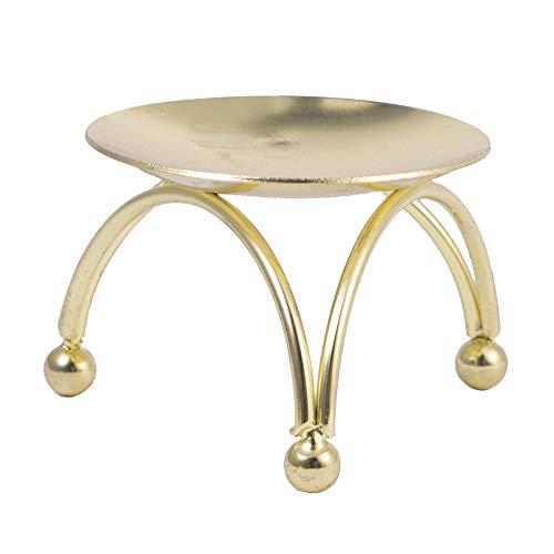 VVU 1 Uds candelabro de Hierro para Mesa Redonda, candelabro Dorado para Fiesta, Boda, Adorno, decoración de Escritorio, decoración de atmósfera de Metal