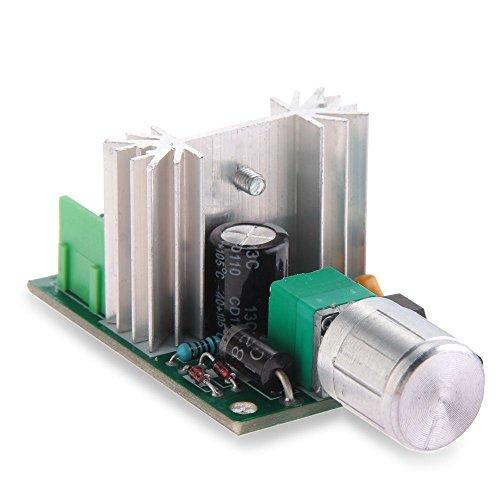 SODIAL(R) controlador de velocidad PWM con el regulador de interruptor de velocidad para DC6V motor 12V 6-10A