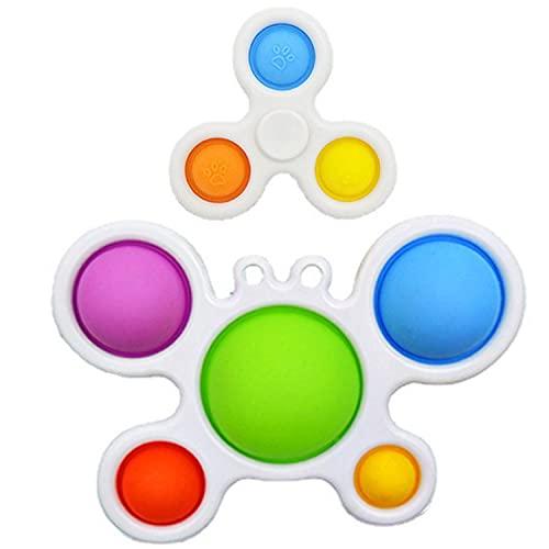 T-XYD Dimple Simple Bubble Fidget Toy Spinner Board Fidgets Kids Toddler Bebé Sensor Sensor Alivio Alivio Alivio Juguetes Juguetes Jugados para niños El Tren del Cerebro