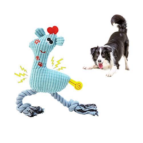 Andiker Juguete para Perro, Juguete de Peluche Perroduradero Interactivo con Sonido, Juguete para Perro Chirriante Suave, Juguete Denticion Perro para Perros Pequeños y Medianos