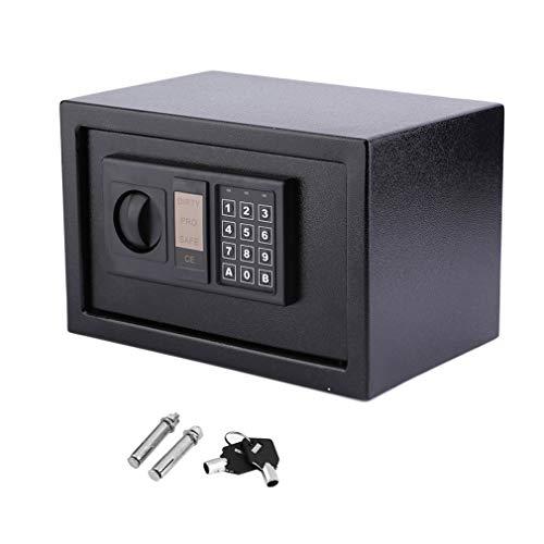 8.5L Safe Digitaler Elektronischer Tresor Sicherheitskasten Feuerfester und wasserdichter Sicherheitsschrank mit PIN-Code und Schlüssel Wandtresor Für Schmuck Bargeld 31x20x20cm (schwarz)