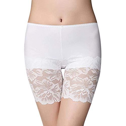 Damen Shorts Mit Spitze Damen Damen Leggings Sicherheitshorts Formen Yogahosen Nahtlose Yoga Leggings x (Color : White, Size : L)