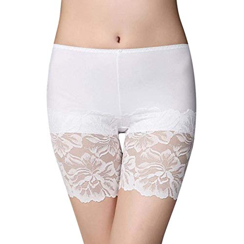 Damen Shorts Mit Spitze Damen Damen Leggings Sicherheitshorts Formen Yogahosen Nahtlose Yoga Leggings x (Color : White, Size : L)