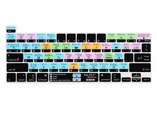 XSKN Tastaturschutz für Mac OS X (englischsprachig), Silikon, für Touch Bar Modelle 2019 MacBook Pro 16 Zoll A2141 US Version Tastatur