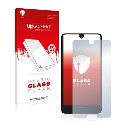 upscreen Hybrid Glass Panzerglas Schutzfolie kompatibel mit Sharp Aquos C10 9H Panzerglas-Folie