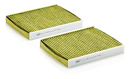 Original MANN-FILTER Innenraumluftfilter FP 2533-2 –FreciousPlus Biofunktionaler Pollenfilter (2er Set) – Für PKW