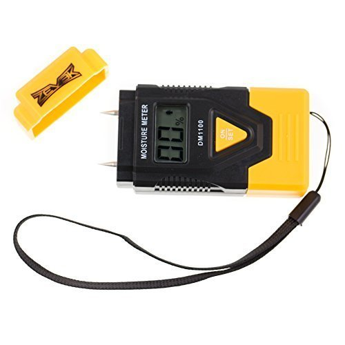 Zevek Digital Moisture Meter Detector Tester CE Approved-Detects Damp in Wood Logs Firewood Caravan Walls Concrete Plaster- Dry Wood Burns Hot Make Your Fire or Stove More Efficient, Eliminate the damp in your home to be healthy - Life Time Guarantee