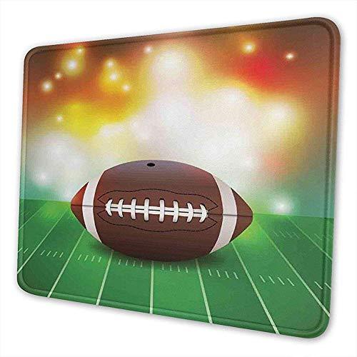 Gaming Mouse Pad American Football Ball auf Gras Sport Mousepad rutschfeste Gummibasis Mauspad 25 x 30 cm