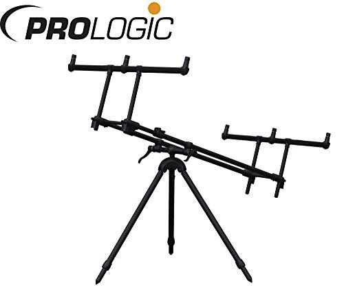 Prologic Tri-Lux Rod Pod für 3 Karpfenruten, Rod Pod, Rutenständer für Karpfenruten, Rutenhalter zum Karpfenangeln, Karpfenrute