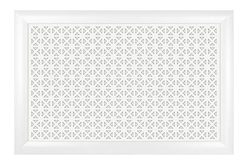 Heizkörperverkleidung   hitzebeständige MDF Platte   Heizung   Abdeckung   modern   Lüftungsgitter   verschiedene Größen   90 x 60 cm   Elenico