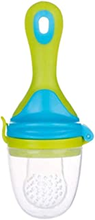 JYC Baby Fresh Fruit Food Feeder Silicone Teething Pacifiers Teether Handle (Color : Green)