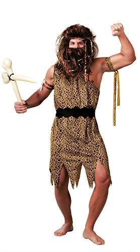 Höhlenmensch Kostüm für Herren Gr. M-L, Größe:L