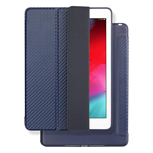RZL PAD & TAB cases For iPad 2 3 4, Silicone Soft Back Folio Stand with Auto Sleep/Wake Up PU Leather Smart Cover for iPad 3 4 2 (Color : Cool Blue)