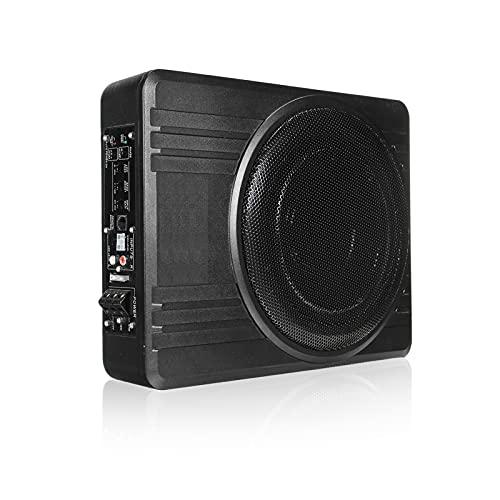 LQIAN 600W 10 Inch Car Amplifier Subwoofer Car Audio Slim Under Seat Powered Subwoofer Car Audio