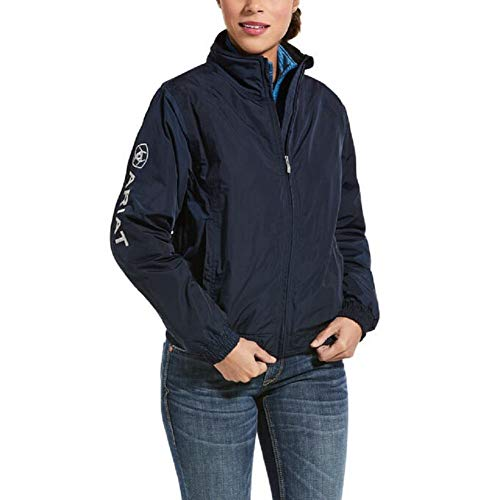 41o8h92FY6L. SS500  - Ariat Womens Waterproof Stable Jacket - Navy Blue