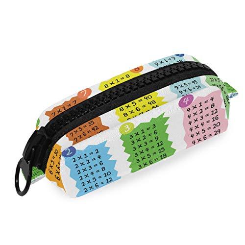 Bolsa Bulk Office School Big Zipper Bag Pen Pencil Case Tabla de multiplicar