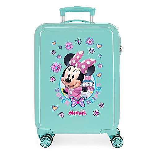 Disney Minnie Super Helpers Maleta de cabina Azul 38x55x20 cms Rígida ABS Cierre de combinación lateral 35 2 kgs 4 ruedas dobles Equipaje de Mano