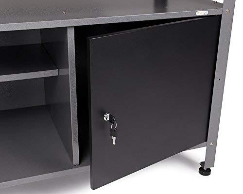 Ondis24 Werkstatteinrichtung Werkstatt Werkbank 120 cm breit mit höhenverstellbaren Füßen und passender Werkzeugschrank 120 cm breit mit 2 Ablagen, abschließbare Türen - 4