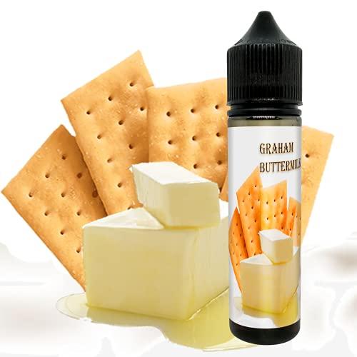 E-Liquid GRAHAM BUTTERMILK GALLETA MANTEQUILLA de ElecVap - Sin Nicotina - 60ml formato TPD - 0MG Nicotina - E-Liquido para Cigarrillos Electronicos - E Liquidos para Vaper