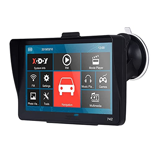 CDPC Localizzatore GPS Navigatore GPS per Auto 7 Pollici GPS 256M + 8 GB 742 GPS per Auto Navigatore Automatico Navigatore satellitare Bluetooth Touch Screen (Nome Colore : Senza Bluetooth)