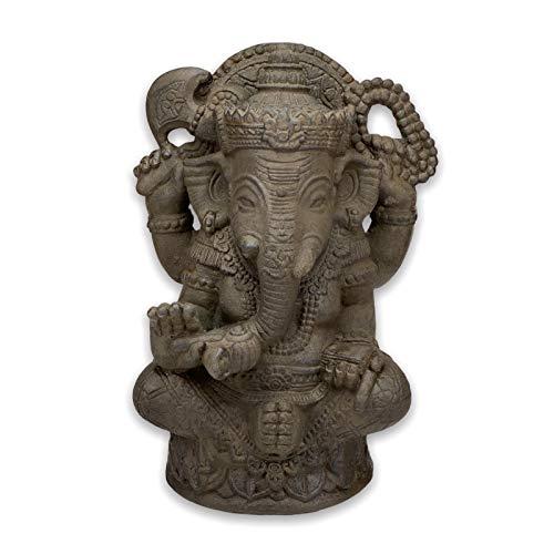 Fahome Ganesha Skulptur Hindu Steinfigur Gottheit Glück Statue ca. 60 cm Deko Figur Stein