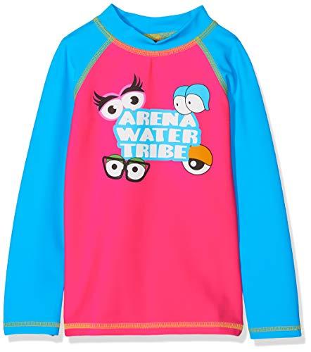 ARENA 000439_4-5 Camiseta de Manga Larga con protección Solar, Unisex niños, Rosa (Aphrodite) / Turquoise, 4-5