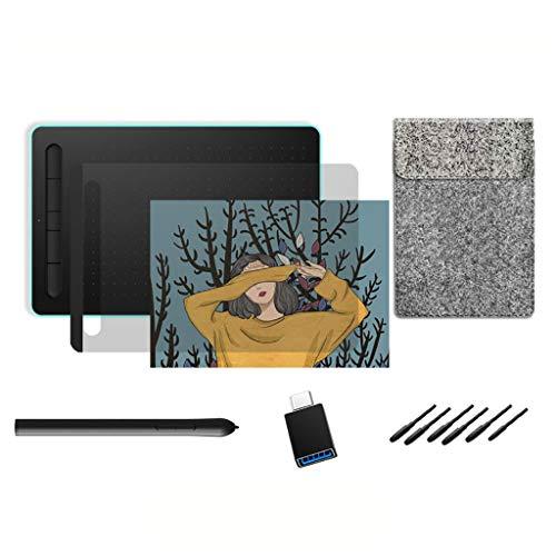 WggWy Tablero de Dibujo Bluetooth, Clase de Profesor de Estudiante Clase en línea con Soporte para teléfonos móviles Que escriben y Aprendizaje de la Tableta de Graffiti,Blue Package Two