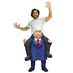 """HIGH QUALITY """"SELF STUFF"""" PIGGY BACKCOSTUME:Pack Includes Presidential Leader """"With Self Stuff Legs"""" Piggyback Costume SIZES THAT FIT: One size fits most. We make this in one size to fit most adults height from 5' 4"""" to 6'4"""" or 165cm to 195cm and t..."""