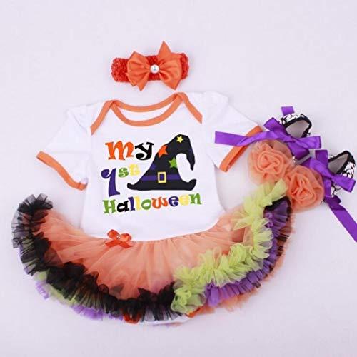 Een set van 20-22 inch kinderen pop jurk Tutu jumpsuit patroon pak kleding Halloween