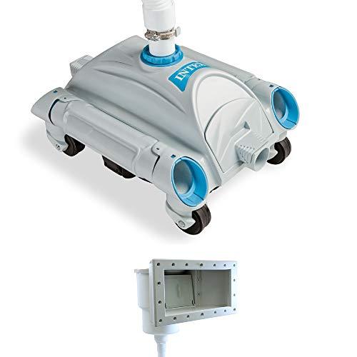 Intex Automatic Pool Side Vacuum Cleaner w/ 24' Hose & Hydro Tools Pool Skimmer