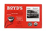 Boyd's Organic Red Wagon Coffee Dark Roast, 12 Count (Pack of 6)