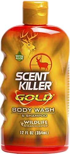 Wildlife Research Scent Killer Gold Body Wash and Shampoo, (12-Ounce), Multi