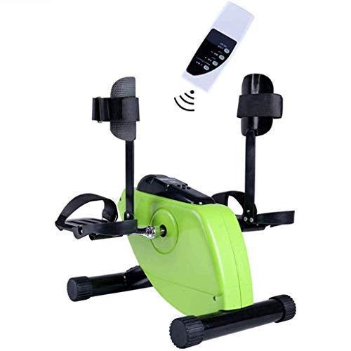 Ejercitador de pedal eléctrico para entrenamiento de miembros superiores e inferiores, bicicleta de ejercicios pasiva activa con monitor LCD y control remoto, para discapacitados y ancianos,