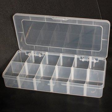 Man vrijdag 12 vakken opslag plastic sieraden verstelbare gereedschapskist