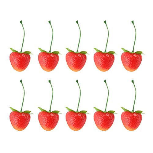 BESPORTBLE 30 stücke Simulierte Erdbeere Kunststoff Erdbeere Modell Künstliche Gefälschte Früchte Modell für Party