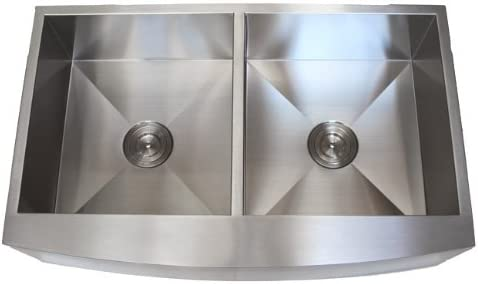 Choice 36 Inch Stainless Steel Curved Front Kitchen Apron Farmhouse Mail order Sin