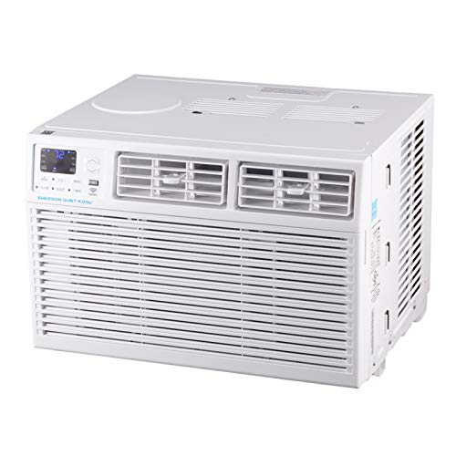 Emerson Quiet Kool EARC15RSE1 SMART 15,000 BTU 115V Window Air Conditioner with Remote, Wi-Fi, and Voice Control, White
