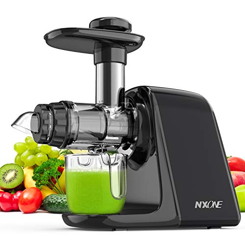 Juicer Machines, NXONE Slow Masticating Juicer, Cold Press Juicer Extractor...
