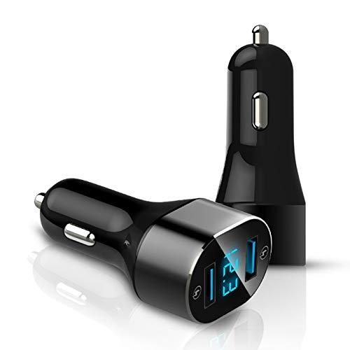 Xyamzhnn Cargo por teléfono USB, Carga rápida 3.0, Pantalla Digital USB Dual, protección de sobrecorriente, fácil de Usar